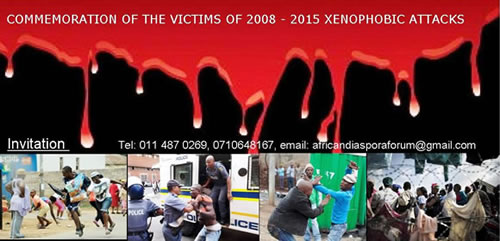 Commemoration of victims of xenophobic attacks