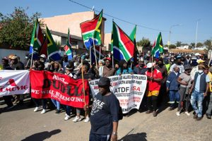 16 June 2021: People march in Diepkloof on Youth Day as part of Operation Dudula to push migrants out of Soweto.